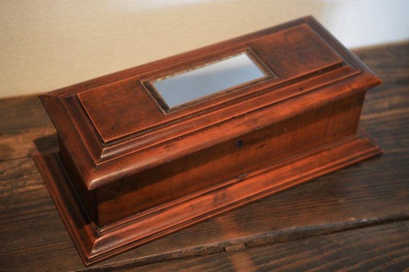 鏡付き額縁モール木箱
