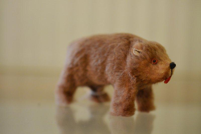 Original Fur Toys  手のひらサイズの茶色のクマ