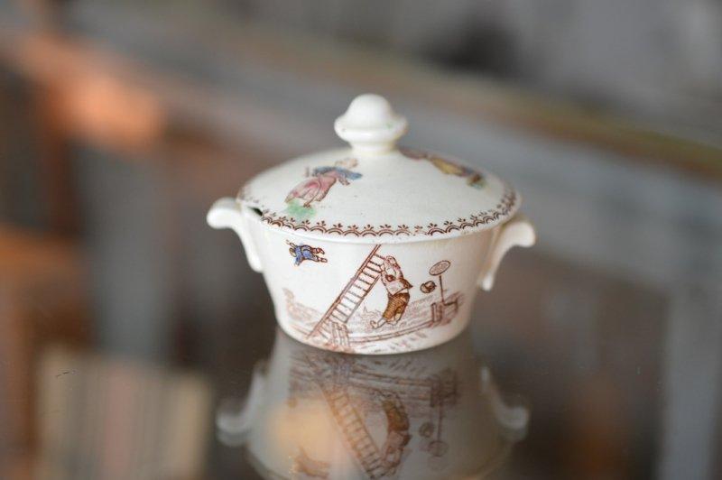ままごと陶器 IVOIRE  蓋付きボウル
