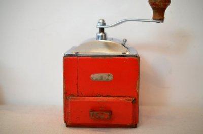 コーヒーグラインダー Pe.De. 木製置型RED  Made in Holland