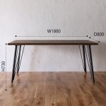 職人家具 古材 足場板ダイニングテーブル180 タイプB【設置配送】ikpイカピー