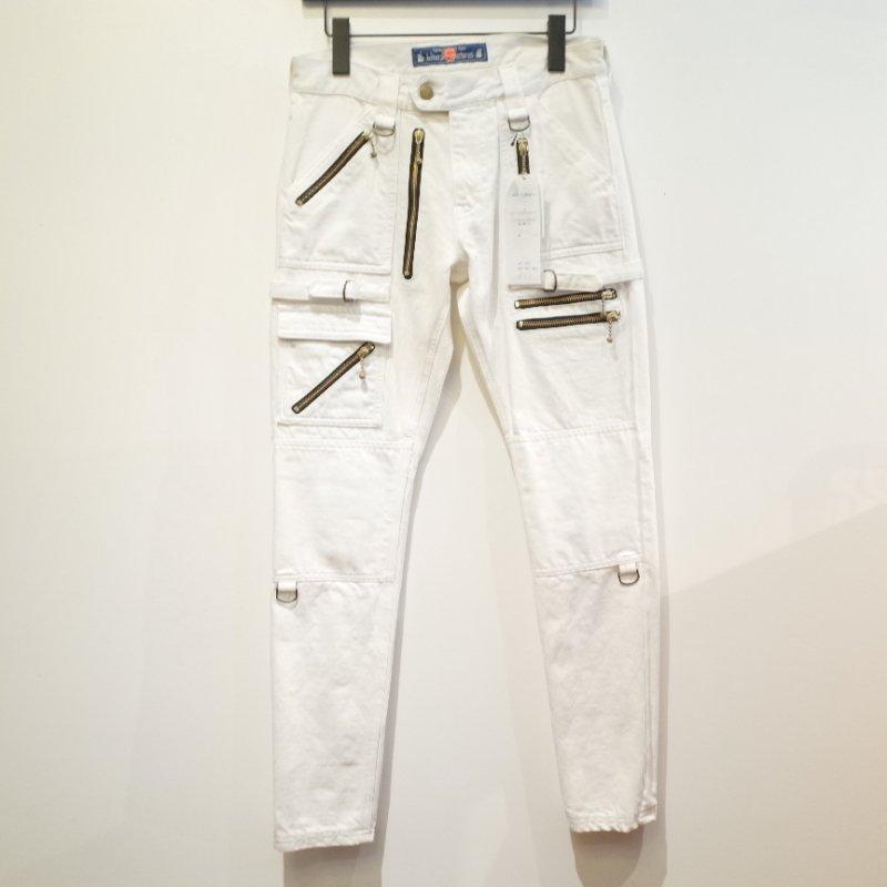 [blackmeans] Cotton Zip Pants