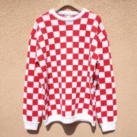 <img class='new_mark_img1' src='//img.shop-pro.jp/img/new/icons1.gif' style='border:none;display:inline;margin:0px;padding:0px;width:auto;' />[John'sbyJOHNNY] Checker Flag Sweater