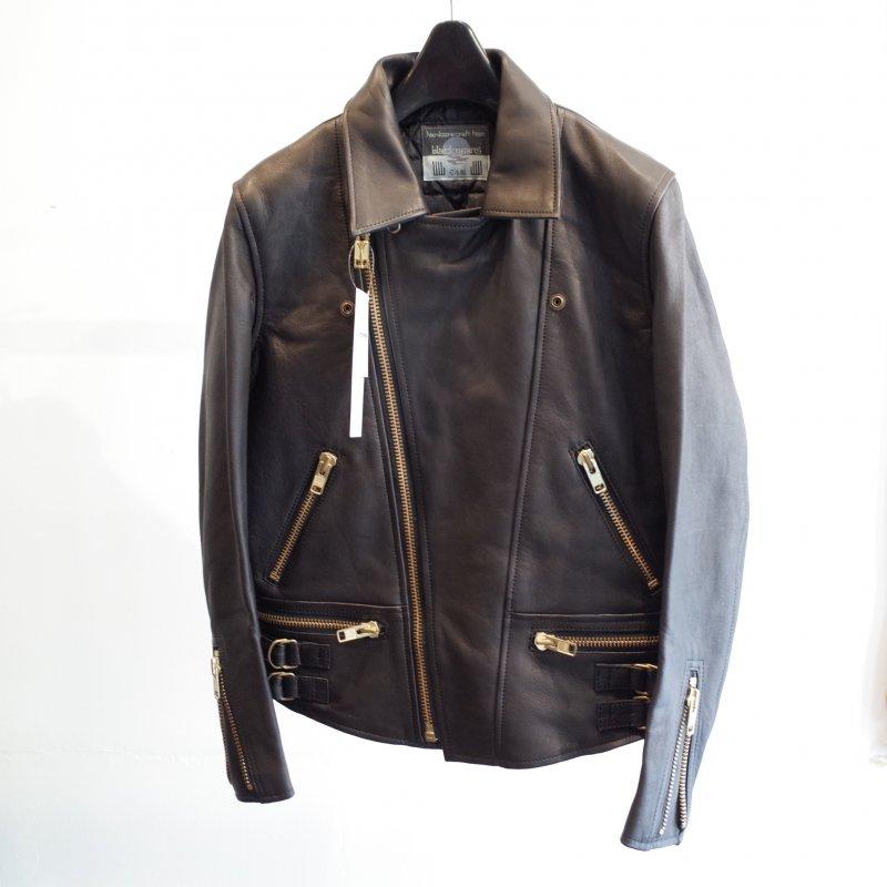 [blackmeans] Sheep Leather JKT 1