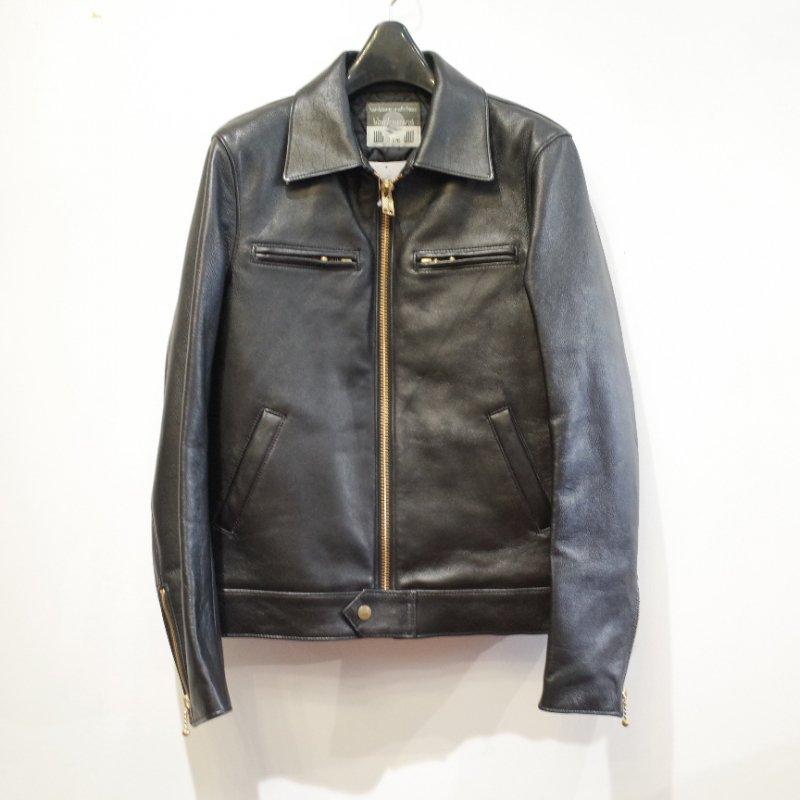 [blackmeans] Sheep Leather Single JKT