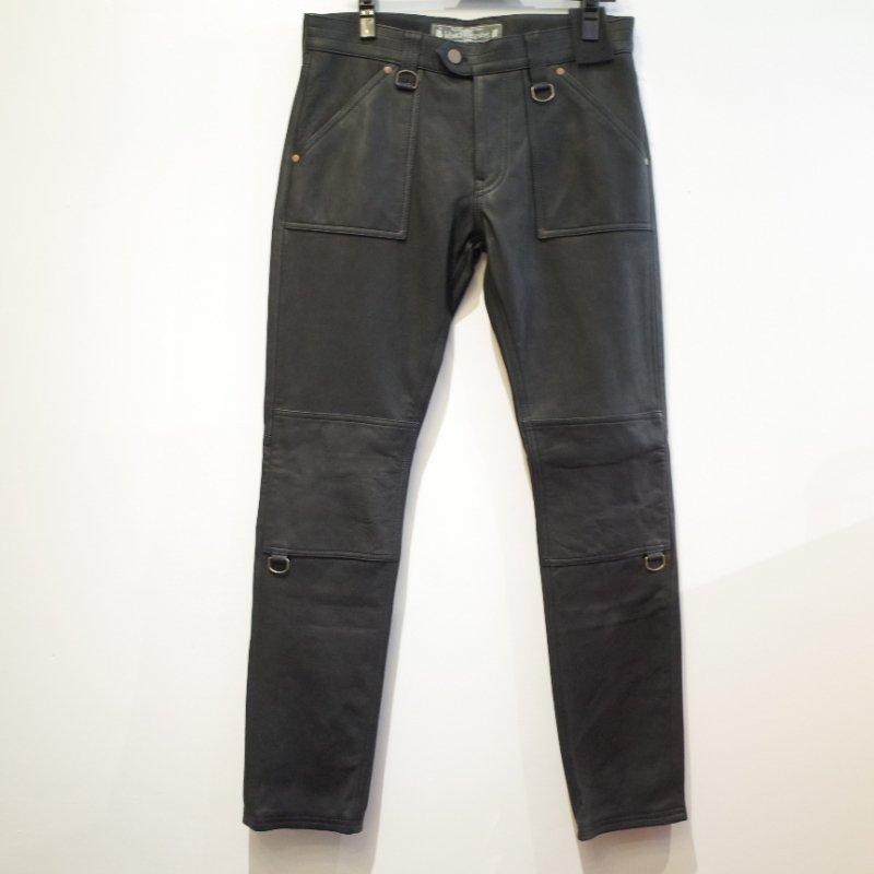 [blackmeans] Leather  Pants