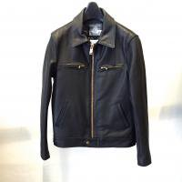 <img class='new_mark_img1' src='//img.shop-pro.jp/img/new/icons1.gif' style='border:none;display:inline;margin:0px;padding:0px;width:auto;' />[blackmeans] Cow Leather Single Rider's JKT
