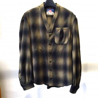 [blackmeans] Shadow Check Shirt