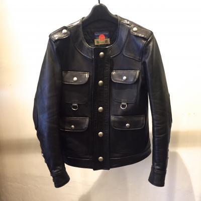 [blackmeans] Sheep Leather JKT