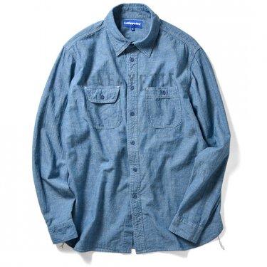 LAFAYETTE ラファイエット Hidden Logo Chambray Shirt 長袖 シャンブレーシャツ シャツ メンズ LFT17SS011 ブ…