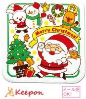 クリスマスタオルハンカチ(サンタとゆかいななかまたち)