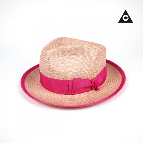 PINKのエクアドル産本パナマ日本製HAT
