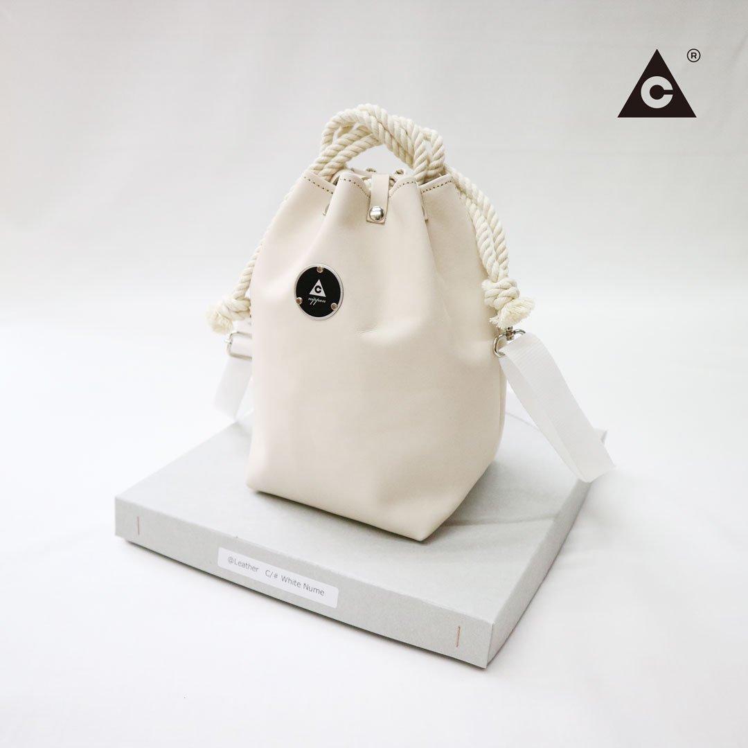 "KOMUSUBI BAG ""Leather"" -White Nume-"