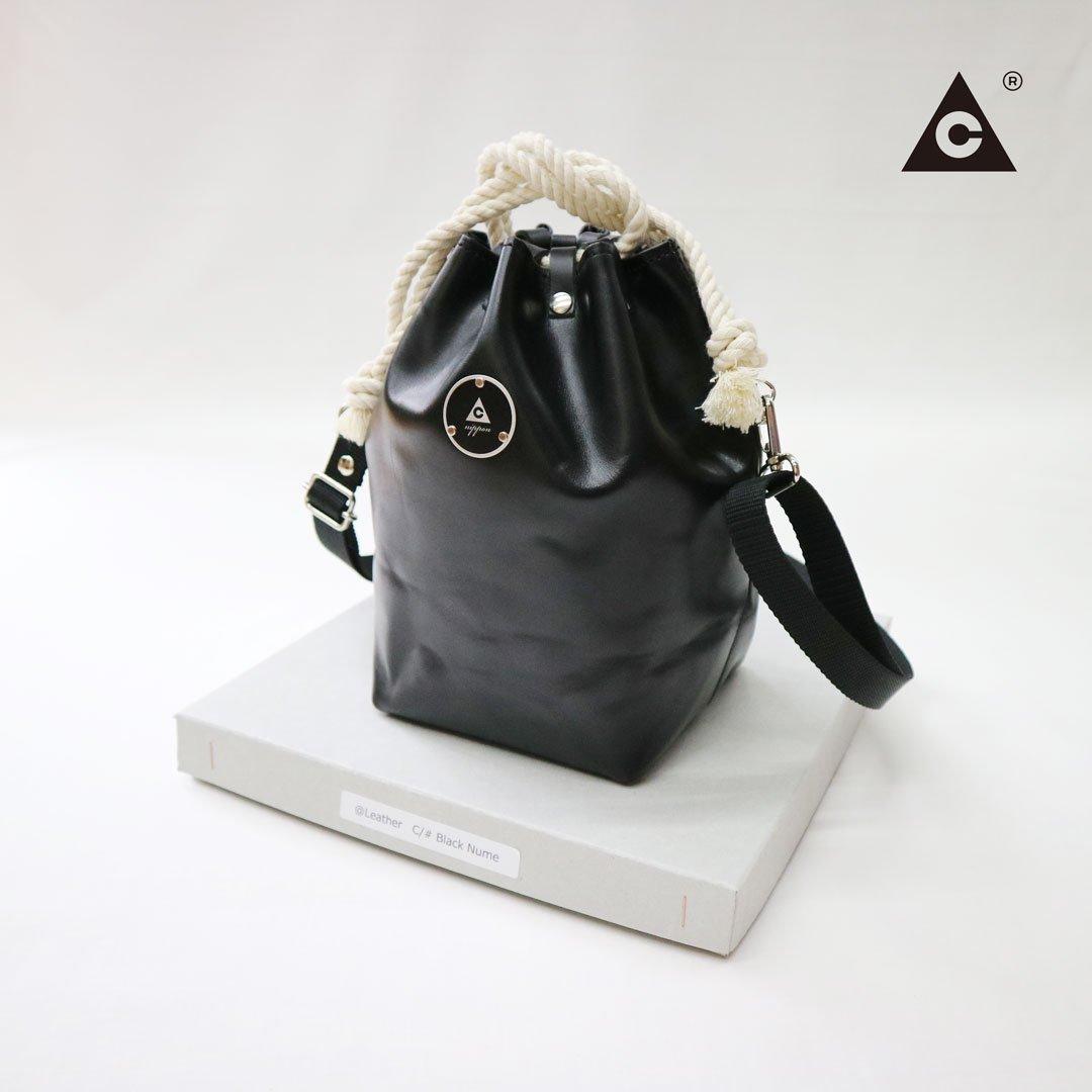 """KOMUSUBI BAG """"Leather"""" -Black Nume-"""