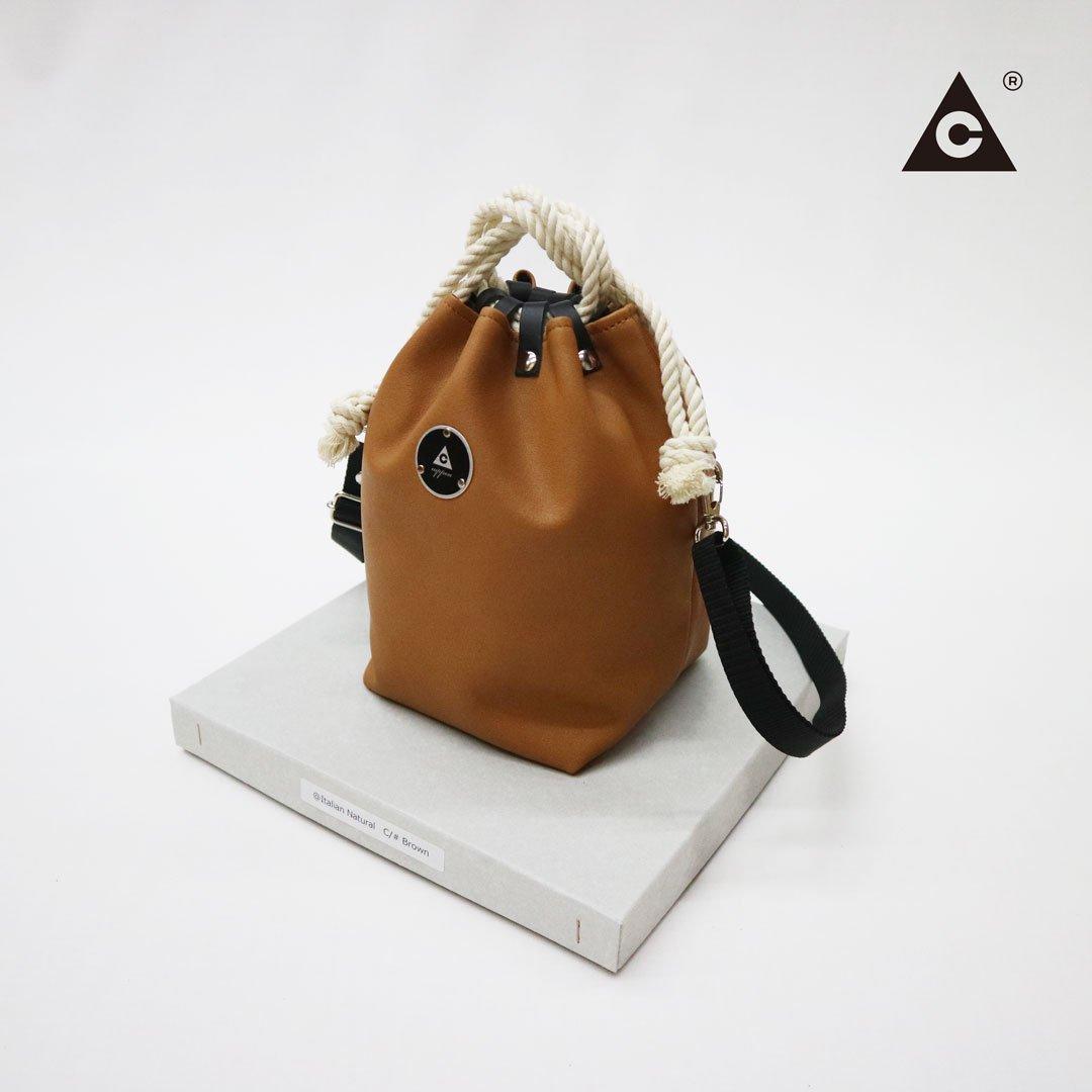 """KOMUSUBI BAG """"Leather"""" -Italian Natural Brown-"""