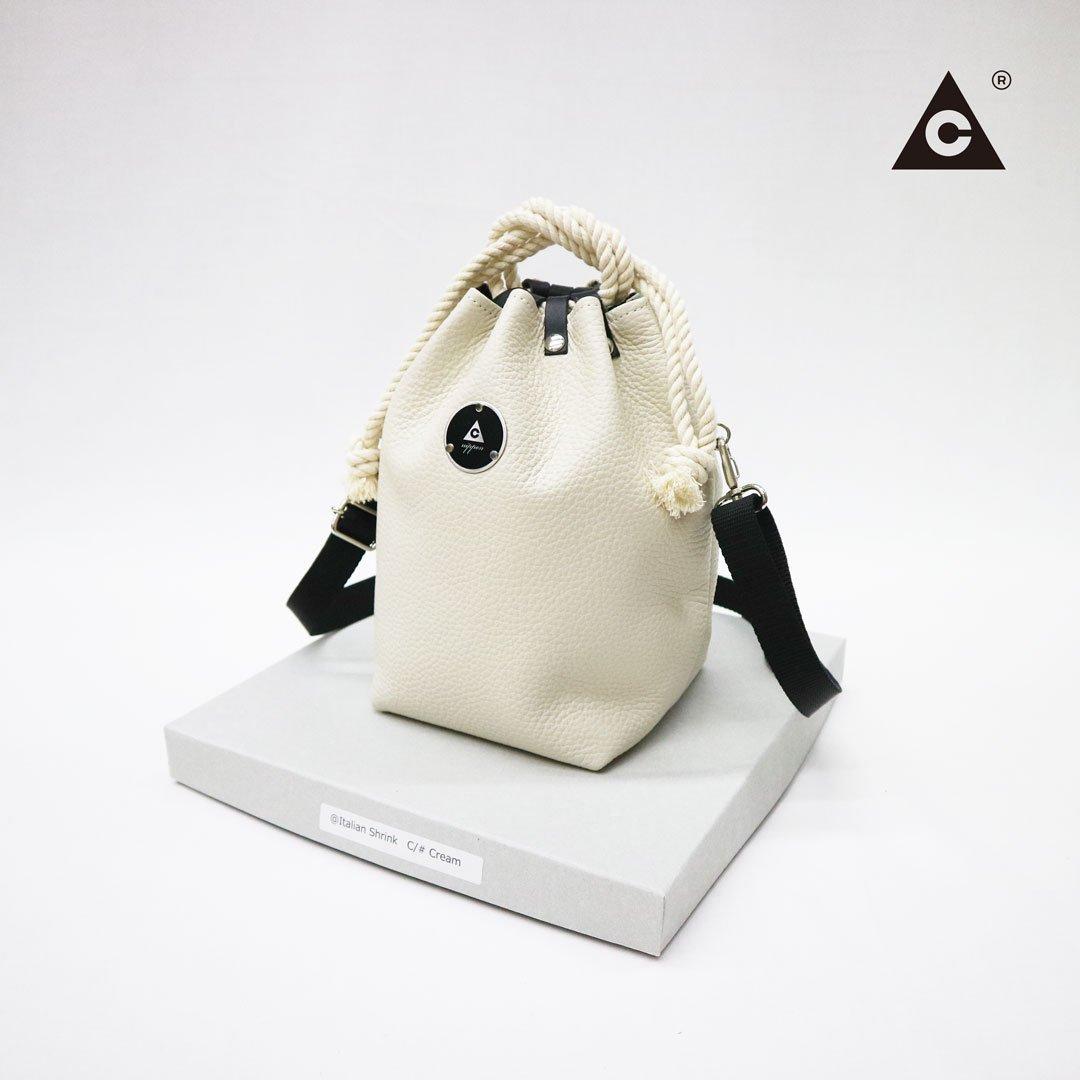 "KOMUSUBI BAG  ""Leather"" -Vanilla-"