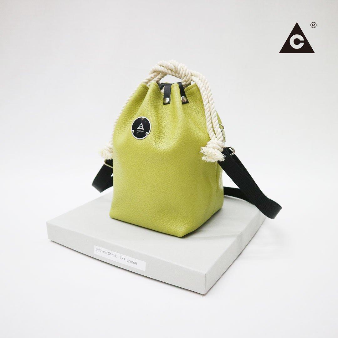 "KOMUSUBI BAG  ""Leather"" -La France-"