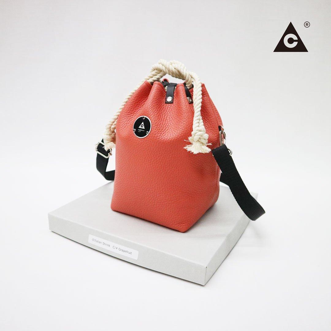 "KOMUSUBI BAG  ""Leather"" -Grapefruit-"