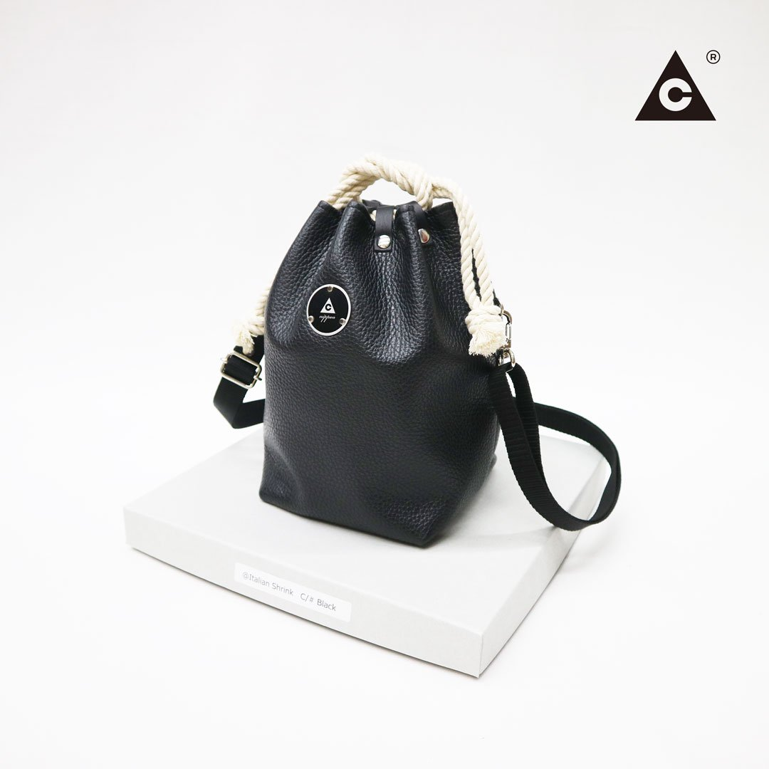 "KOMUSUBI BAG ""Leather"" -Black-"