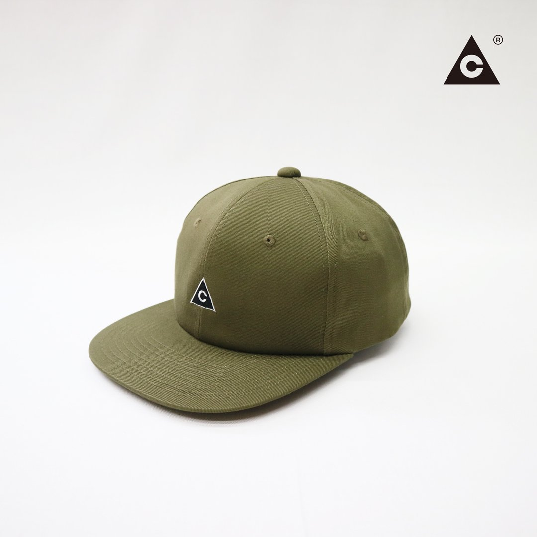 Triangle Cap  -Olive-