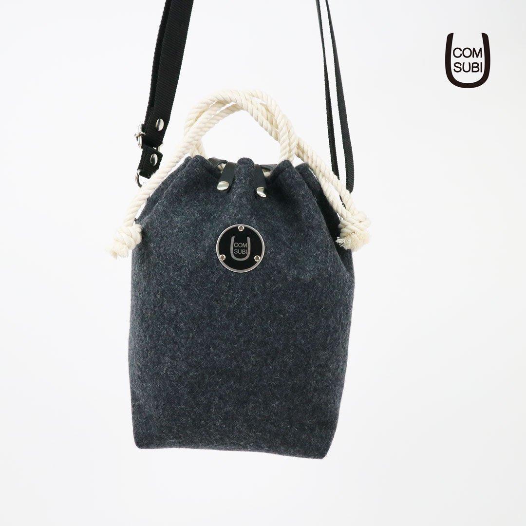 "COMUSUBI BAG  ""Melton"" -Charcoal Gray-"