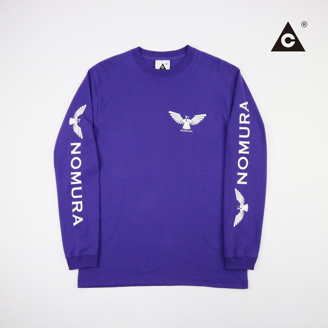 "E.Nomura ロンTee -Purple- ""イーグル別注"""
