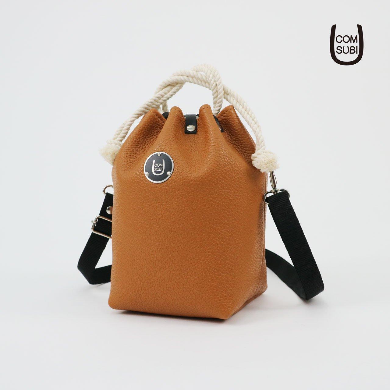 """COMUSUBI BAG  """"Leather"""" -Caramel-"""