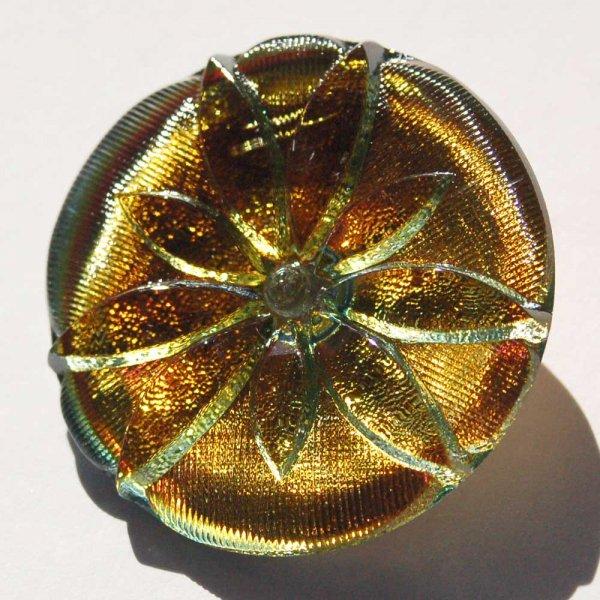 チェコガラスボタン  <ラウンド/スターフラワー>36mm