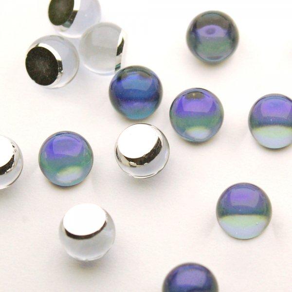 チェコクリスタルガラスカボション  <3/4ボール/6mm/ヘリオトロープ>プレシオサ