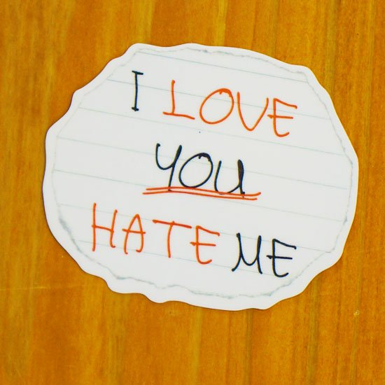 I love you hate me【販売ステッカー】<img class='new_mark_img2' src='https://img.shop-pro.jp/img/new/icons24.gif' style='border:none;display:inline;margin:0px;padding:0px;width:auto;' />