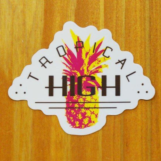 TROPICAL HIGH(パイナップル)【販売ステッカー】