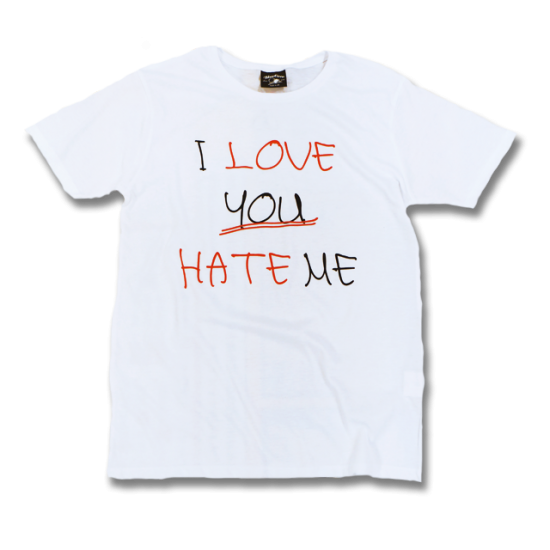 I LOVE YOU HATE ME for Ladies<img class='new_mark_img2' src='https://img.shop-pro.jp/img/new/icons1.gif' style='border:none;display:inline;margin:0px;padding:0px;width:auto;' />