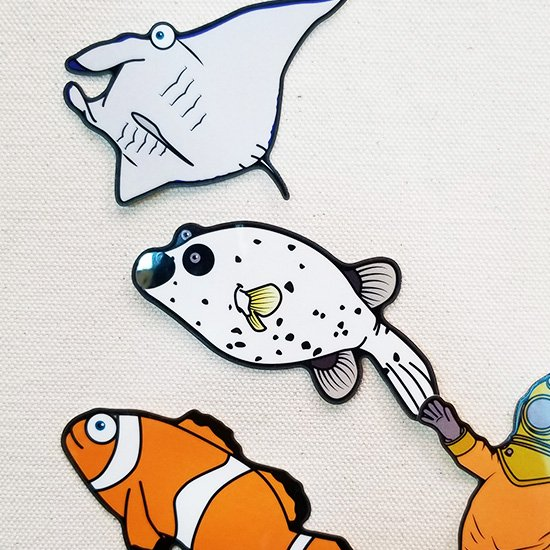 mylittlesea Sticker-コクテンフグ【販売ステッカー】<img class='new_mark_img2' src='https://img.shop-pro.jp/img/new/icons24.gif' style='border:none;display:inline;margin:0px;padding:0px;width:auto;' />