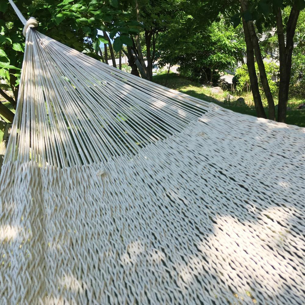 ハンモック ベッド型 太糸コットン 【reguler size】ナチュラル natural  ムラブリハンモック