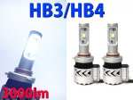 【特別価格】最新仕様3000lm HB3/HB4兼用 Cree 2連 ホワイト LEDフォグランプ 3ヶ月保証【2429】