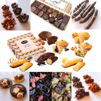 【フランス美味しいもの便】 チョコレート・アソートショコラ・マドレーヌ・キャトルカール・フレグランスティー