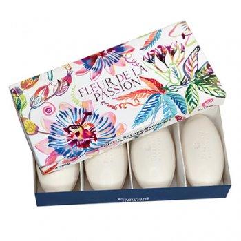 【フラゴナール】 Fleur de la Passion(フルールドゥラパッション)パッションフルーツの花  石けん 4個セット