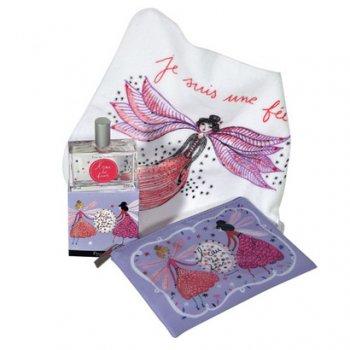 【フラゴナール】 Eau des fees(オードゥフェ) 妖精の水 香水50ml+タオル30cm+ポーチセット