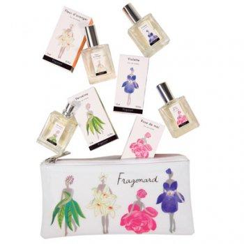 【フラゴナール】 Fammes Fleurs(ファムフルール) オードトワレ4点(ローズドメ・ヴィオレット・オレンジの花・バーベナ)+ポーチセット