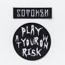 PLAY AT YOUR OWN RISK  ワッペン