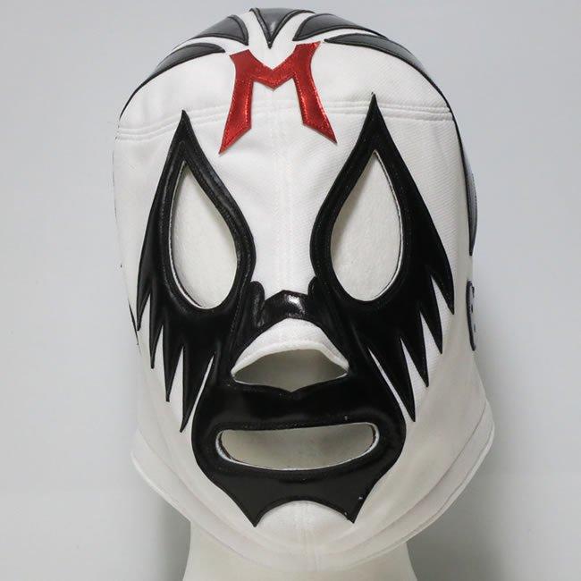 仮面貴族 ミル・マスカラス  試合用マスク  ホワイト×ブラックトレードジャージ素材  IM23479