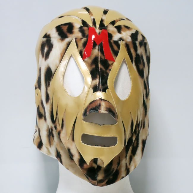 仮面貴族 ミル・マスカラス セミプロマスク 豹柄トレード ベロア素材  KM23503
