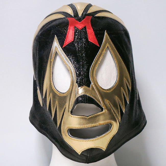 仮面貴族 ミル・マスカラス  試合用マスク ブラック×ゴールドトレード  IM23530