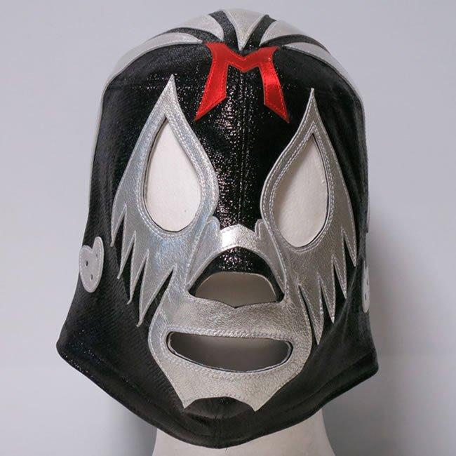 仮面貴族 ミル・マスカラス  試合用マスク ブラック×シルバートレード  IM23531