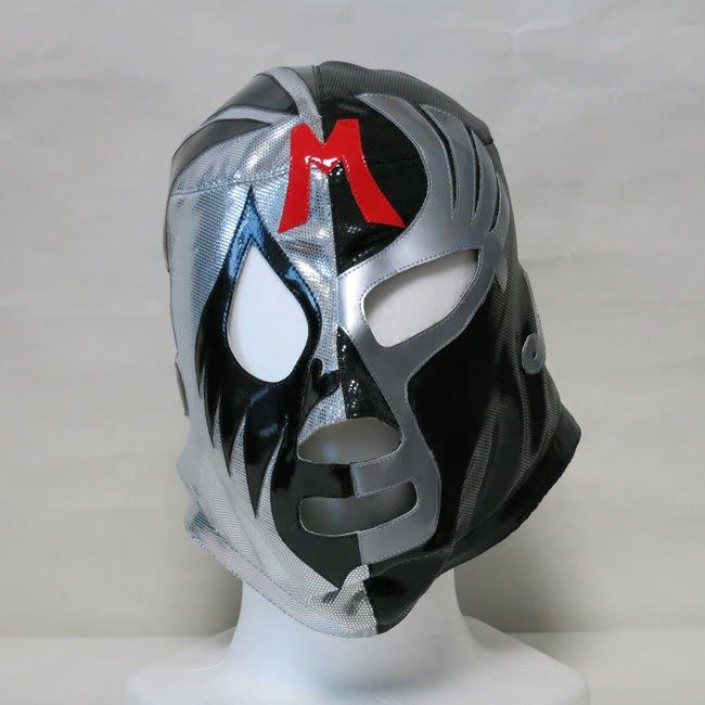 仮面貴族 ミル・マスカラス ハーフマスクA 銀×黒 セミプロマスク  FM21352