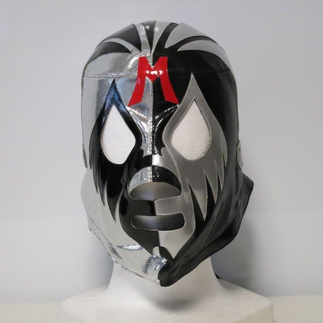 仮面貴族 ミル・マスカラス シルバー×ブラック ハーフトレード セミプロマスク  KM22436