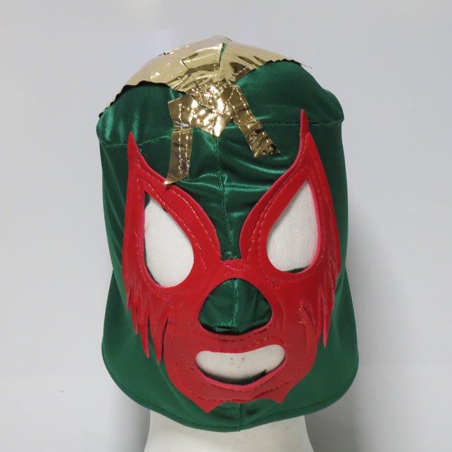 仮面貴族 ミル・マスカラス  応援用おもちゃマスクbyアレナメヒコ 後紐仕様 グリン NM22704A