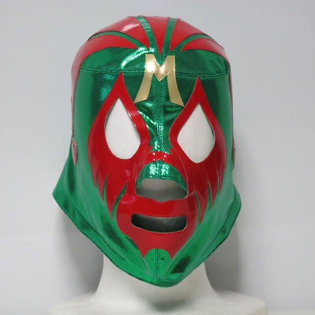 仮面貴族 ミル・マスカラス グリーントレード×レッド セミプロマスク  KM22811