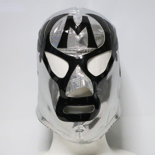 仮面貴族 ミル・マスカラス セミプロマスク 初来日モデル  後ファスナー シルバー KM22863