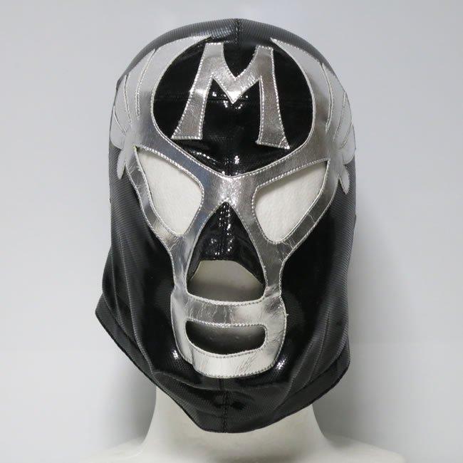 仮面貴族 ミル・マスカラス セミプロマスク 初来日モデル  後ファスナー ブラック KM22864